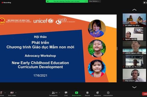VVOB, UNICEF đồng hành cùng Bộ GD&ĐT phát triển chương trình giáo dục mầm non mới