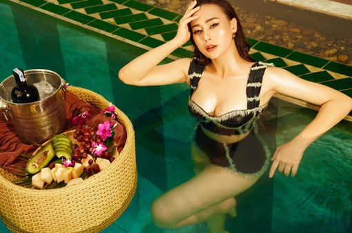 """Tự nhận là """"giò bò"""", Phương Oanh vẫn tự tin khoe ảnh bikini bỏng mắt"""
