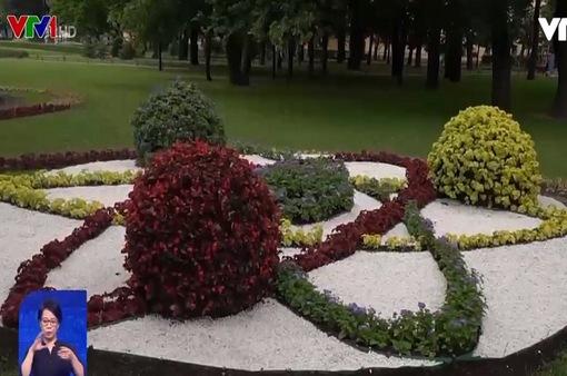 Triển lãm hoa ngoài trời tại St.Petersburg
