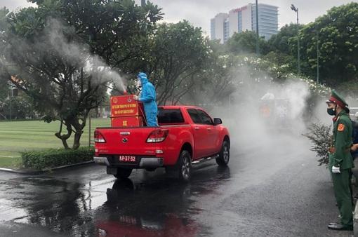 Tăng cường phun khử khuẩn tại TP Hồ Chí Minh