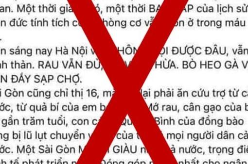 """Mời chủ tài khoản Facebook """"Hằng Nguyễn"""" lên làm việc sau bài đăng về COVID-19"""