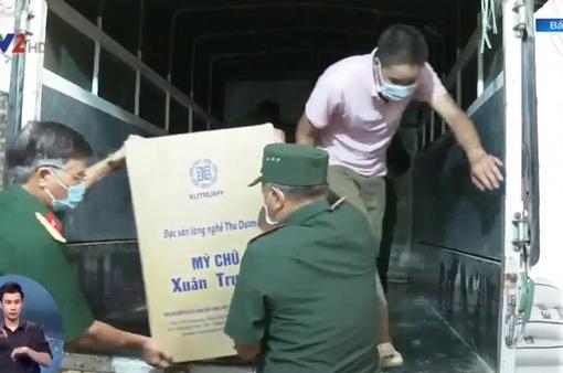 Bắc Giang tiếp tế lương thực, y bác sĩ cho vùng tâm dịch miền Nam