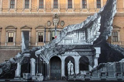 Tác phẩm tranh tường 3D độc đáo tại Italy
