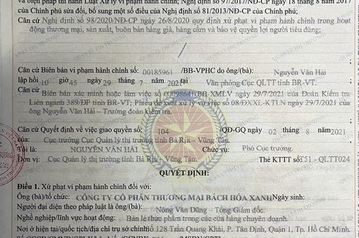 Bán hàng không niêm yết giá, Bách Hóa Xanh bị phạt gần 6 triệu đồng