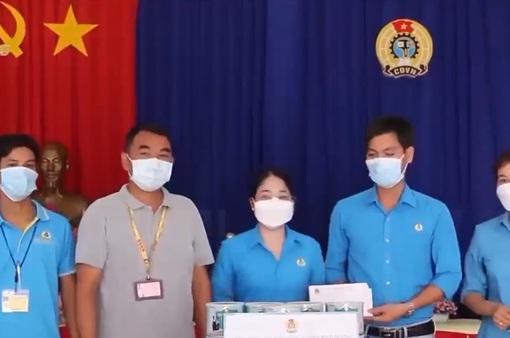 Bình Dương: Thăm, tặng quà lao động bị ảnh hưởng bởi dịch COVID-19