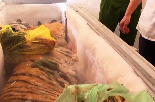 Phát hiện 1 con hổ đông lạnh trong nhà dân