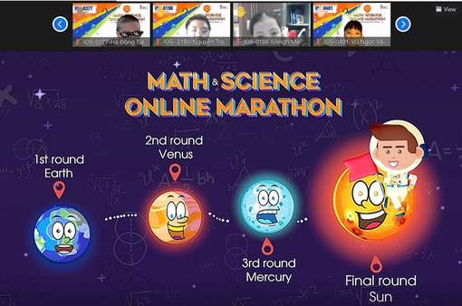 """Hàng nghìn học sinh tham gia cuộc """"marathon tiếng Anh"""" qua môn Toán và Khoa học"""