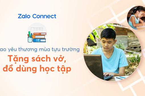 Hỗ trợ đồ dùng học tập cho học sinh hoàn cảnh khó khăn qua Zalo Connect
