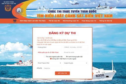 """Gần 300.000 người tham gia Cuộc thi """"Tìm hiểu Luật Cảnh sát biển Việt Nam"""""""