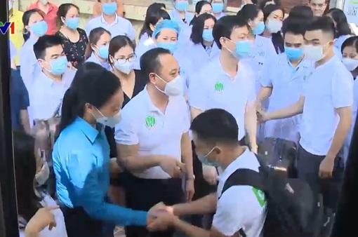 Các y, bác sĩ Bệnh viện Răng Hàm Mặt Trung ương tới TP Hồ Chí Minh hỗ trợ điều trị COVID-19