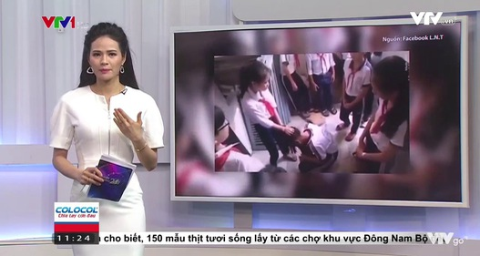 Kiên Giang làm rõ clip nữ sinh đánh bạn trong nhà vệ sinh
