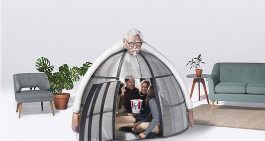KFC ra mắt lều chống… mạng Internet