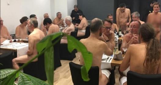 Nhà hàng… khỏa thân đầu tiên tại Pháp