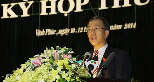 Đề nghị kỷ luật nguyên Bí thư Tỉnh ủy Vĩnh Phúc Phạm Văn Vọng