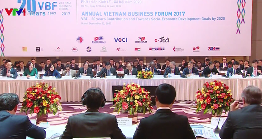 """Thủ tướng dự Diễn đàn Doanh nghiệp Việt Nam: """"Chính phủ kiến tạo sẽ tiếp tục cải cách đổi mới"""""""