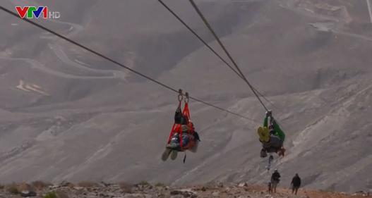 UAE khai trương đường đu dây mạo hiểm dài nhất thế giới