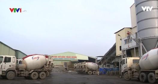 Hàng loạt trạm trộn bê tông không phép ở Hà Nội