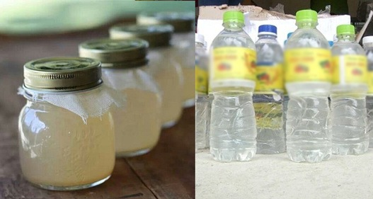 Rùng mình giấm ăn pha từ nước và axit