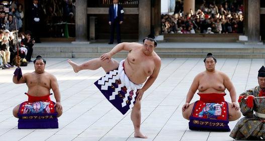 Nghi thức đầu năm của các võ sĩ Sumo