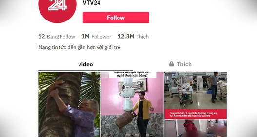 TikTok vtv24news - Vựa muối của VTV Digital cán mốc 1 triệu người theo dõi