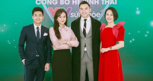 BTV Thu Hương và dàn MC rạng rỡ tại lễ công bố Hệ sinh thái VTV Sức khỏe