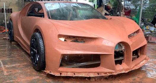 Tới lượt siêu xe Bugatti đất sét của người Việt gây xôn xao báo Tây