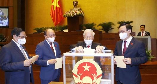 Quốc hội bầu xong 3 chức danh lãnh đạo chủ chốt nhiệm kỳ 2021 - 2026