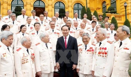 Chủ tịch nước gặp đại biểu Công an chi viện chiến trường miền Nam