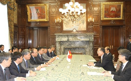 Phó Thủ tướng Nguyễn Xuân Phúc hội kiến lãnh đạo Quốc hội Nhật Bản
