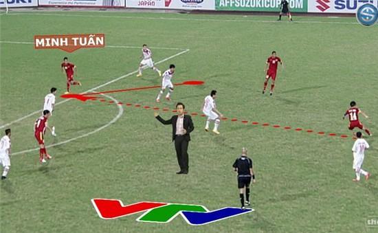 """AFF Cup: Cận cảnh công nghệ mới giúp BLV VTV """"xuất hiện"""" giữa sân đấu"""