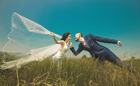 """Ảnh cưới lung linh của """"cá sấu chúa"""" Quỳnh Nga"""