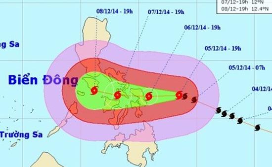 Siêu bão Hagupit diễn biến phức tạp có thể đi vào Biển Đông