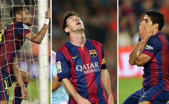 Hàng công Barca đang kém nhất kể từ năm 2008