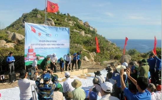 Khánh thành Cột cờ Tổ quốc trên đảo Cù Lao Xanh