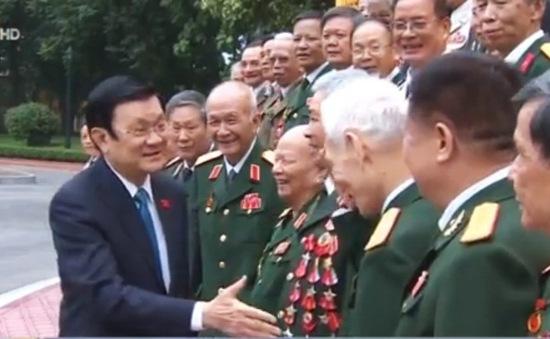 Chủ tịch nước gặp mặt các cựu chiến binh Sư đoàn 1