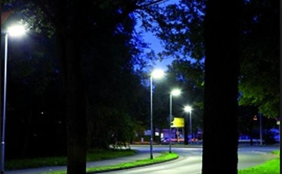 Đèn thông minh tiết kiệm điện ở ngoại ô Copenhagen