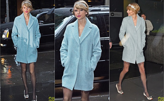 """Taylor Swift mặc váy ngắn, """"khoe"""" chân dài"""
