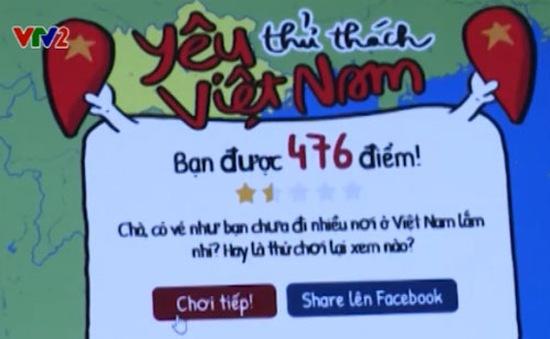"""""""Thử thách yêu Việt Nam"""" – Trò chơi thu hút cộng đồng mạng"""