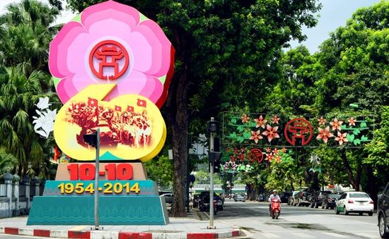 Hà Nội rực rỡ cờ hoa mừng 60 năm ngày giải phóng