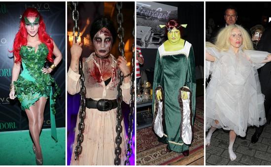 """""""Rùng mình"""" với phục trang Halloween của các sao Hollywood"""