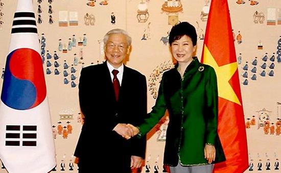 Điện cảm ơn của TBT Nguyễn Phú Trọng gửi Tổng thống Hàn Quốc