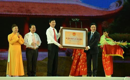 Bằng xếp hạng Di tích Quốc gia đặc biệt cho Khu di tích lịch sử nhà Trần tại Đông Triều