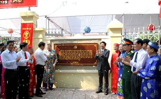 Pháo đài Xuân Tảo được gắn biển Di tích lịch sử