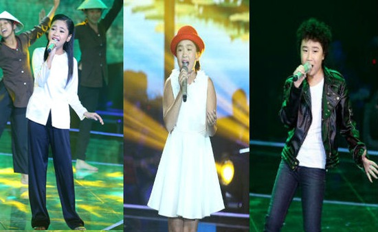 Lộ diện 3 gương mặt vào Chung kết Giọng hát Việt nhí 2014