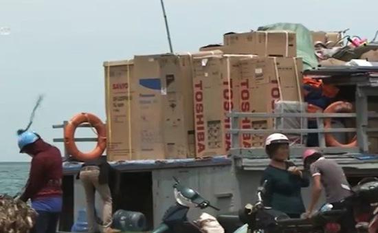 Thị trường điện máy đảo Lý Sơn bắt đầu sôi động