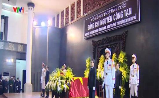 Toàn cảnh Lễ tang nguyên Phó Thủ tướng Nguyễn Công Tạn