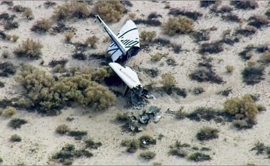 Mỹ: Tàu du lịch vũ trụ SS2 gặp nạn khi bay thử