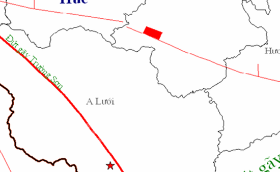 TT-Huế: Động đất 2,9 độ richter tại khu vực huyện A Lưới