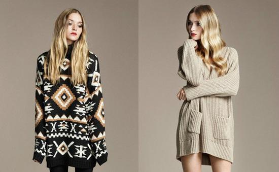 Xu hướng áo nỉ và áo len thùng thình trong mùa Đông