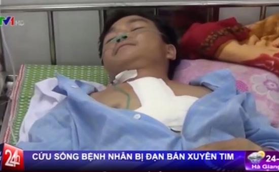Cứu sống bệnh nhân bị đạn xuyên thủng tim